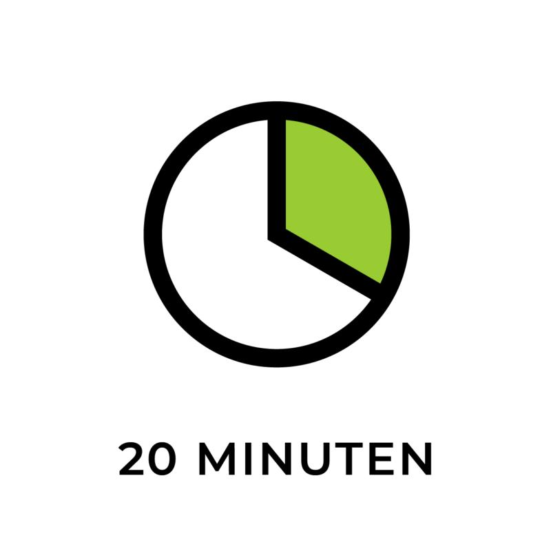 20 Minuten pro Personal Training