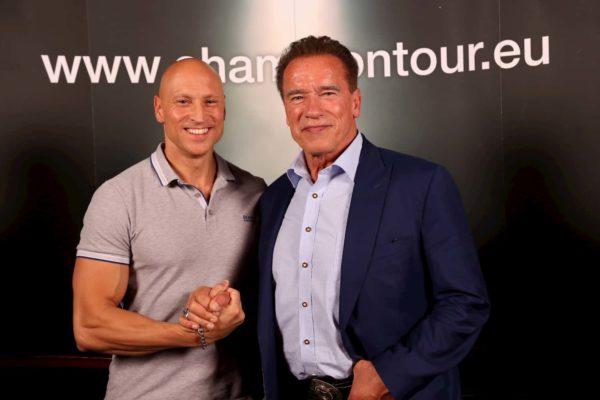 Arnold Schwarzenegger und Mario Adelt